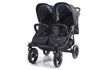 Valco Baby Black Nomad Duo Foldable Dual Stroller/Pram Twin Newborn +/Toddler