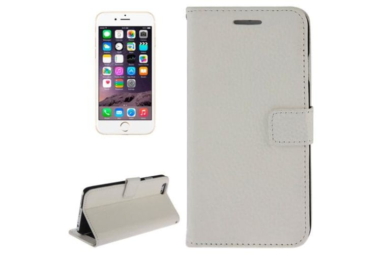 buy popular 5dc1e f0463 For iPhone 6S PLUS 6 PLUS Wallet Case Modern Genuine Leather Cover White
