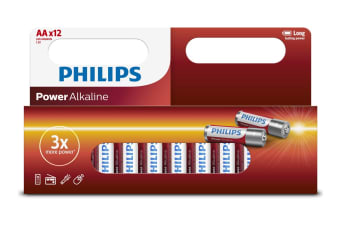 Philips Alkaline Battery 12 x AA - 20 Pack