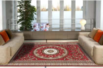Classic Pattern Rug - Red