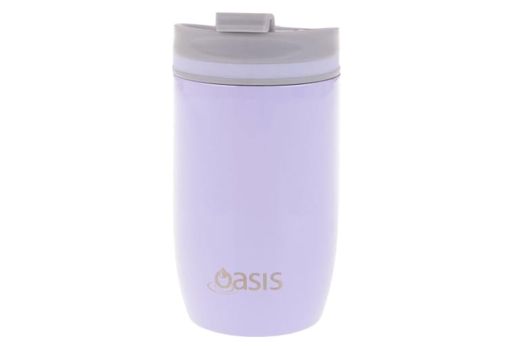 Oasis Stainless Steel 300ml Double Wall Insulated Drink Travel Cup Flask Lilac
