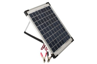 10W 12V SOLAR PANEL and 2 amp REGULATOR RV camp marine TRICKLE BATTERY CHARGER