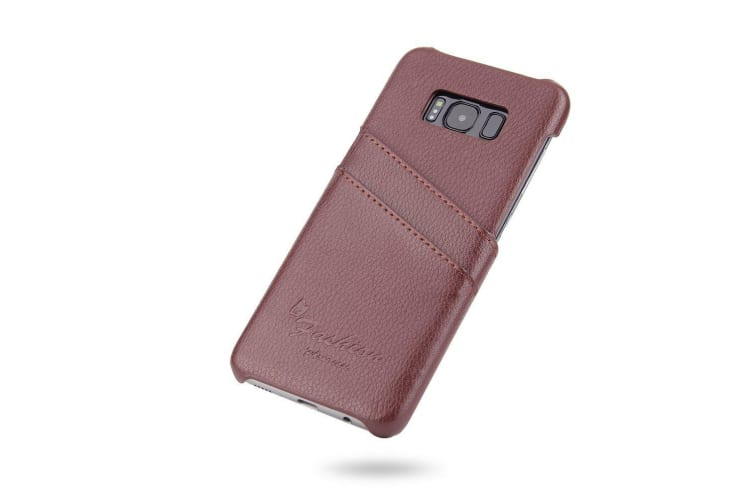 For Samsung Galaxy S8 PLUS Case Handmade Genuine Leather Fashion Cover Brown