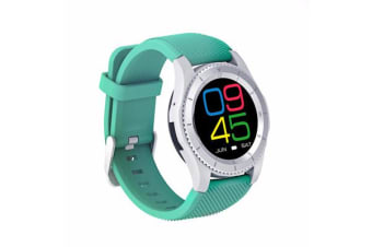 TODO Bluetooth V4.0 Touch Lcd Smart Watch Rechargeable Heart Rate Monitor Aqua