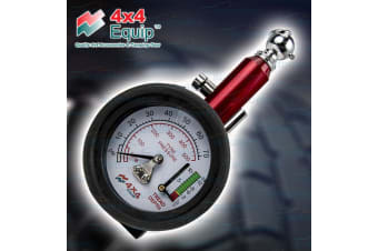 4X4 EQUIP TYRE TIRE 50MM DIAL PRESSURE GUAGE & TREAD MEASURE TOOL NEW IDH-40-7