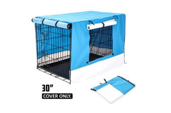 "30"" Cover for Wire Dog Cage - BLUE"