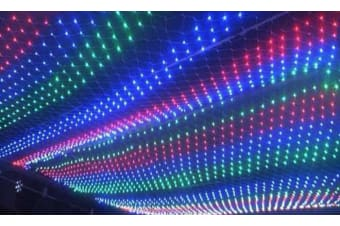 6m*4m 800 LED String Fairy Lights Net Mesh Curtain Xmas Wedding Party Outdoor  -  Multi-coloured