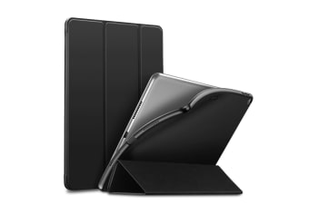 For iPad Air 3 (2019) Case Slim Fit PU Leather + TPU Folio Smart Cover Black