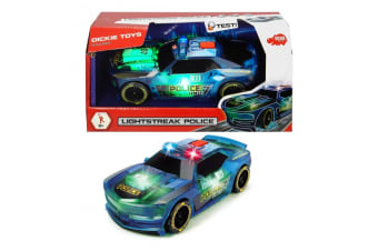 Dickie Toys Lightstreak Police Car with Lights