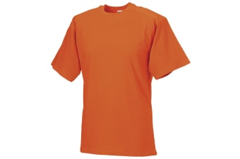 Russell Europe Mens Workwear Short Sleeve Cotton T-Shirt (Orange) (4XL)