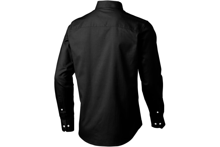 Elevate Vaillant Long Sleeve Shirt (Solid Black) (M)