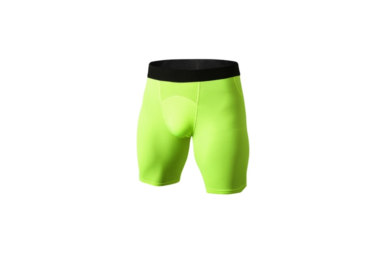 Men'S Compression Shorts Baselayer Cool Dry Sports Tights - Green Green S