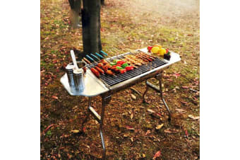 Portable Stainless Steel BBQ Charcoal Grill