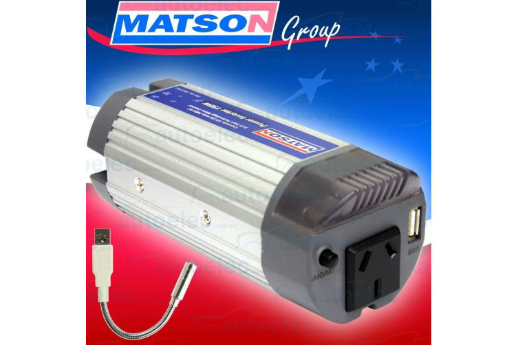 MATSON CAN POWER INVERTER 150W 12V 12 VOLT CAR DC TO 240V AC NEW LAPTOP RADIO