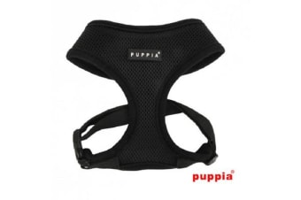 Puppia Soft Mesh Dog Harness Black - XL