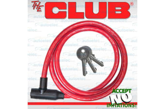 FLEXIBLE LOCKING SECURITY STEEL UNIVERSAL CABLE LOCK & KEY FOR GATE BIKE UTL902A
