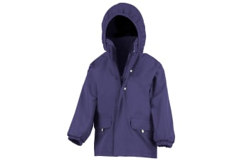 Result Childrens Unisex Rugged Stuff Long Lined Hooded Coat (Royal) (M)