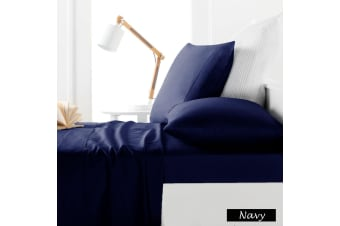 225TC Sheet Set Navy - King Single