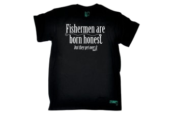 Drowning Worms Fishing Tee - Fishermen Are Born Honest Mens T-Shirt