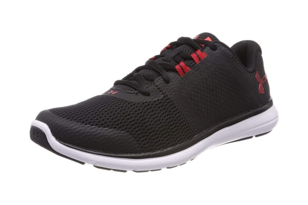 Under Armour Men's Fuse FST Running Shoe (Black/White/Red, Size 7)