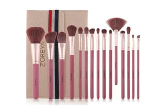 15Pcs Cosmetic Brush Sets Brush Complete Set Beginner Cosmetic Tools - Beige White