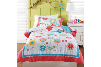 Floral Spot Quilt Cover Set Double by Cubby House Kids