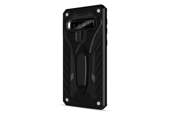 For Samsung Galaxy S10e Case  Armour Strong Shockproof Cover Kickstand  Black
