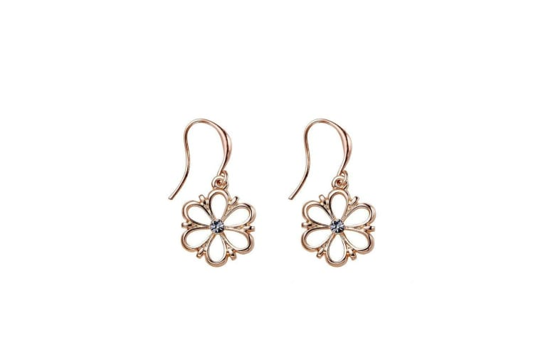 Intrigue Womens/Ladies Flower Earrings (Rose Gold) (One Size)