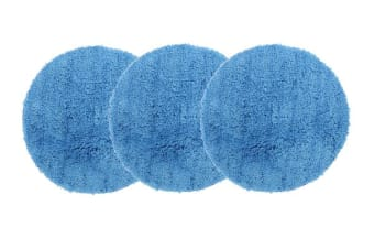 Pack of 3 Freckles Round Shag Rugs Blue