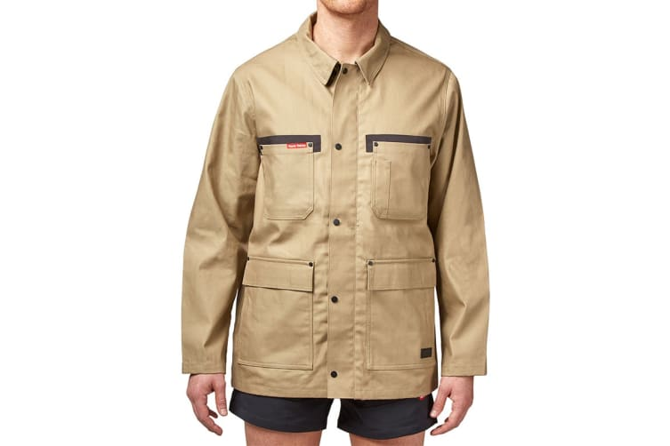 Hard Yakka Men's Legends Tough Jacket (Khaki, Size S)
