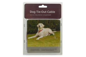 Rosewood Dog Tie-Out Cable (Red) (30in)