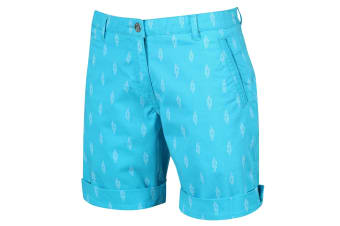 Regatta Womens/Ladies Solita Multi Pocket Active Shorts (Azure Reef Knot Print) (10 UK)