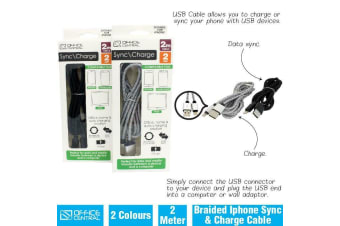 Pack of 2 Apple USB Lightning to USB Cable IPad iPhone Charging Data 2M Braided