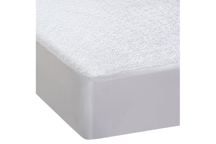 DreamZ Terry Cotton Fyllt Fitted Waterproof Mattress Protector in King Size