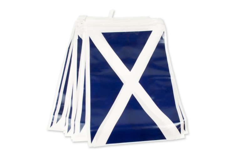Bristol Novelty Scotland Flag Bunting (Blue/White) (One Size)