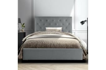 King Single Size Bed Frame Base Mattress Platform Fabric Wooden