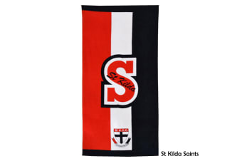 AFL Licensed Cotton Beach Towel St Kilda Saints