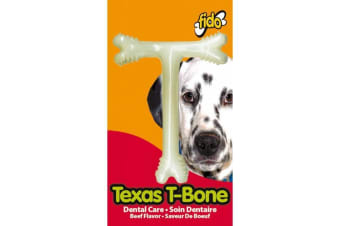 Texas Nylon Dog T-Bone - Beef Flavoured - Medium - 13cm - Fido