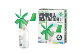 4M Kidz - Windmill Generator Construction Kit | turbine science scientific diy build toy
