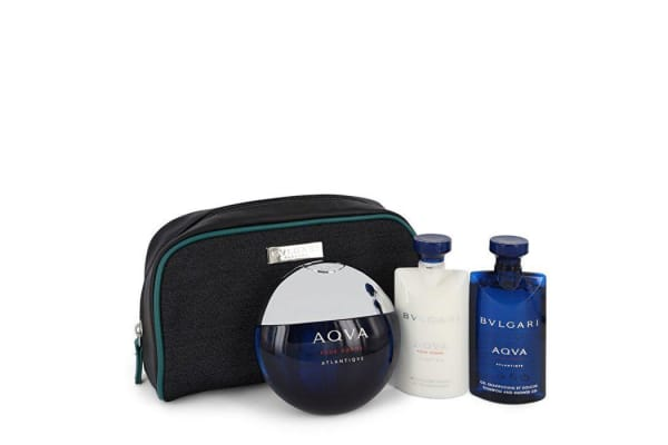 Bvlgari Bvlgari Aqua Atlantique Gift Set - Eau De Toilette Spray + 2.2 oz Shower Gel + 2.2 oz After Shave Balm in Pouch