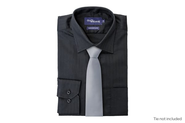 Gloweave Men's Contemporary Fit Business Shirt - Black (Size 41)