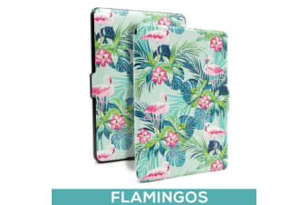 Quality Colorful Painting Leather Cover for Kindle Paperwhite 1/2/3-Flamingos