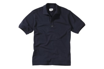 Musto Mens Classic Pique Short Sleeve Polo Shirt (Navy)
