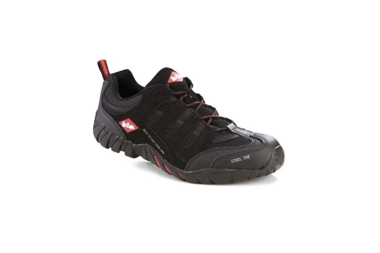 Lee Cooper Mens Steel Toe Work Safety Trainers (Black) (10)