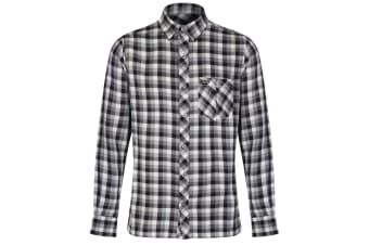 Regatta Great Outdoors Mens Lazka Long Sleeve Checked Shirt (Graphite)