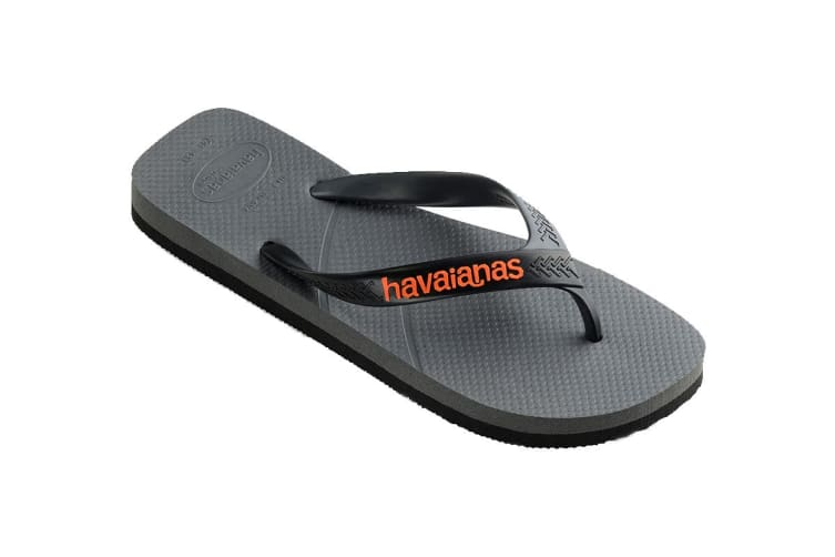 Havaianas Casual Thongs (Steel Grey/Black, Size 43/44 BR)