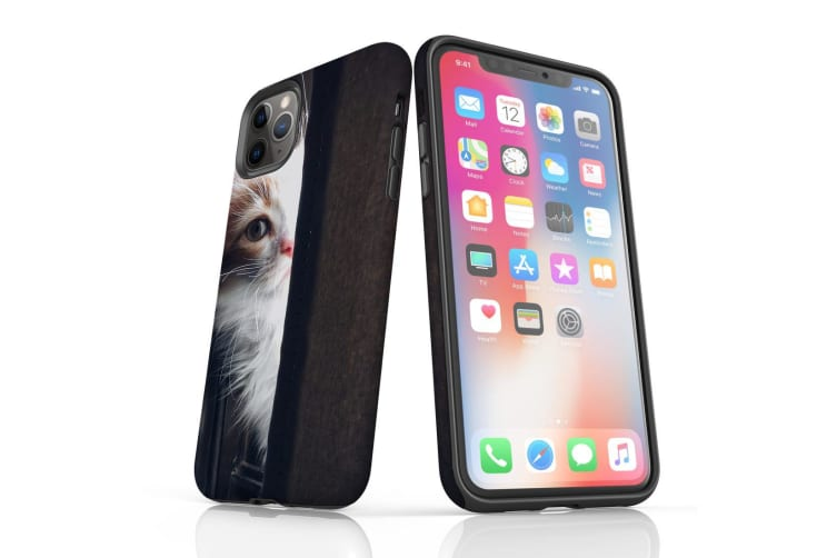 For iPhone 11 Pro Case  Protective Back Cover  Peeking Kitten