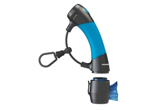 Dog Gone Smart Gizmo Dog Lead Handle With Plastic Poo Bag Dispenser (Blue/Black)