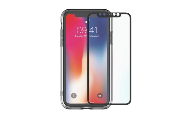 best loved 0979f eae5f Cygnett 360° Bundle Glass front/Back Screen Protector with Bumper for  iPhone Xs Max (CY2626BNSPB)