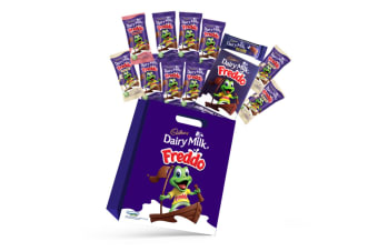 11pc Cadbury Freddo Kids Showbag w/Milk/Strawberrry Freddo Chocolates/Play Cards